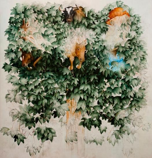 Albero della Vita 200x180 , Olio su tela , 2011