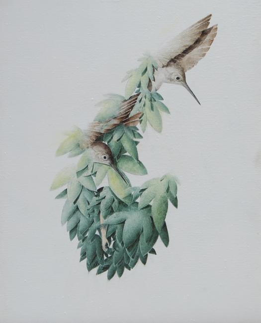 L'Abandon , 50x35  Olio su tela , 2011