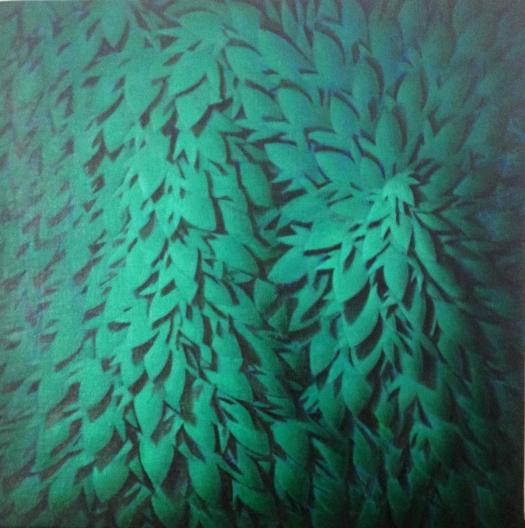 Il Silenzio o in Presenza dell'Assenza #3 , 31,8x31,8 , Olio su tela , 2014